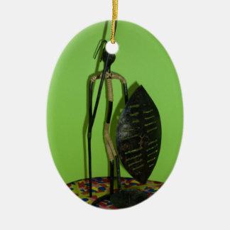 Hakuna Matata Kenya Maasai.JPG Ceramic Ornament