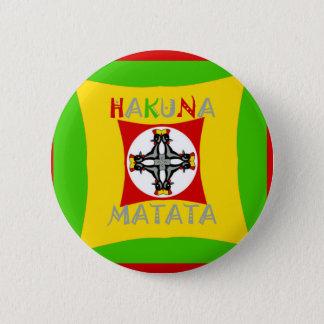 Hakuna Matata Rasta Color Red Golden Green 2 Inch Round Button
