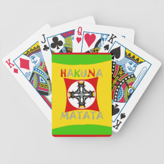 Hakuna Matata Rasta Color Red Golden Green Bicycle Playing Cards