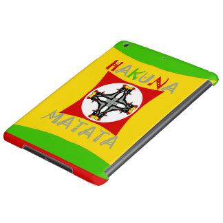 Hakuna Matata Rasta Color Red Golden Green Case For iPad Air