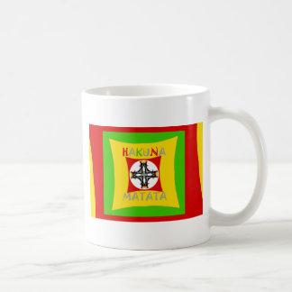 Hakuna Matata Rasta Color Red Golden Green Coffee Mug