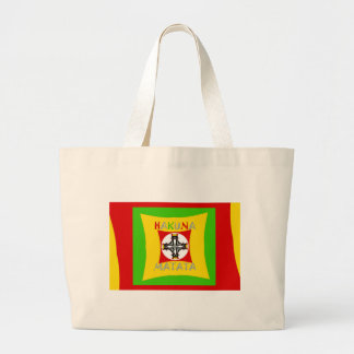 Hakuna Matata Rasta Color Red Golden Green Large Tote Bag