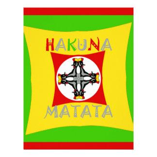 Hakuna Matata Rasta Color Red Golden Green Letterhead