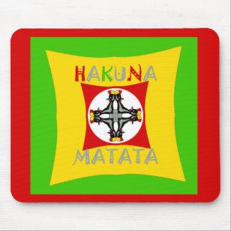 Hakuna Matata Rasta Color Red Golden Green Mouse Pad