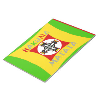 Hakuna Matata Rasta Color Red Golden Green Notepads