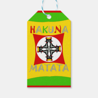 Hakuna Matata Rasta Color Red Golden Green Pack Of Gift Tags