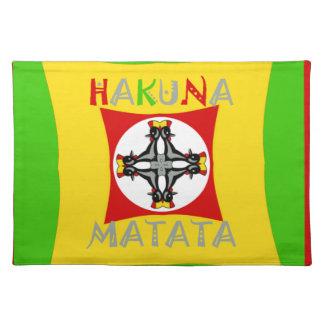 Hakuna Matata Rasta Color Red Golden Green Placemat