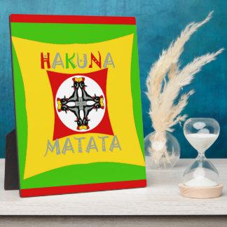 Hakuna Matata Rasta Color Red Golden Green Plaque