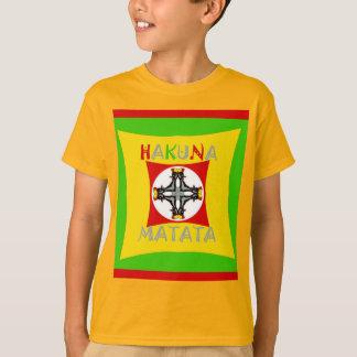 Hakuna Matata Rasta Color Red Golden Green T-Shirt
