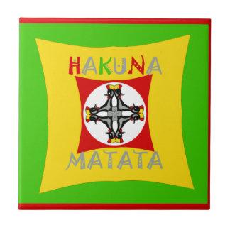 Hakuna Matata Rasta Color Red Golden Green Tile