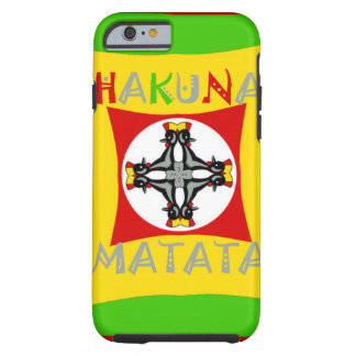 Hakuna Matata Rasta Color Red Golden Green Tough iPhone 6 Case