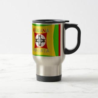Hakuna Matata Rasta Color Red Golden Green Travel Mug