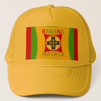 Hakuna Matata Rasta Color Red Golden Green Trucker Hat