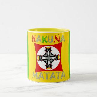 Hakuna Matata Rasta Color Red Golden Green Two-Tone Coffee Mug