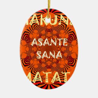 Hakuna Matata Uniquely Exceptionally latest patter Ceramic Ornament