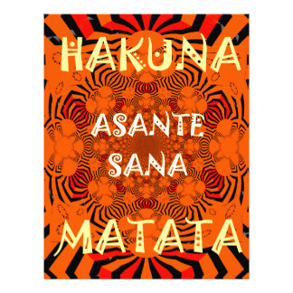 Hakuna Matata Uniquely Exceptionally latest patter Letterhead