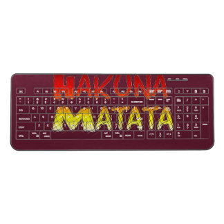 Hakuna Matata Wireless Keyboard