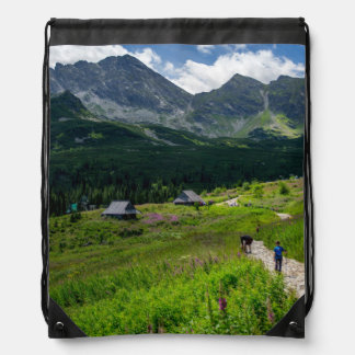Hala Gasienicowa Tatry Poland Drawstring Bag