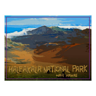 Haleakala National Park, Maui Hawaii Poster