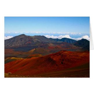 Haleakala Volcano, Maui Card