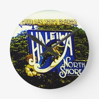 Haleiwa Hawaii North shore Wall Clock