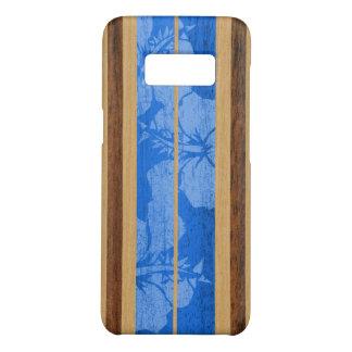 Haleiwa Surfboard Hawaiian Faux Wood - Blue Case-Mate Samsung Galaxy S8 Case