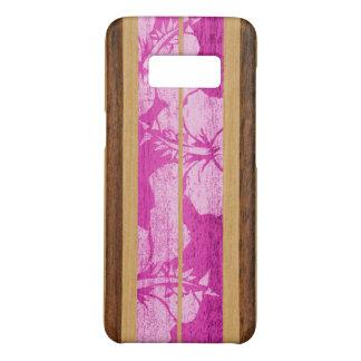 Haleiwa Surfboard Hawaiian Faux Wood - Pink Case-Mate Samsung Galaxy S8 Case