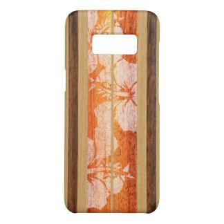 Haleiwa Surfboard Hawaiian Faux Wood - Red Case-Mate Samsung Galaxy S8 Case
