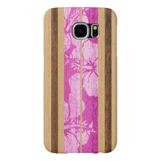 Haleiwa Surfboard Hawaiian Faux Wood Samsung Galaxy S6 Cases