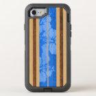 Haleiwa Surfboard Vintage Hawaiian Faux Wood OtterBox Defender iPhone 8/7 Case