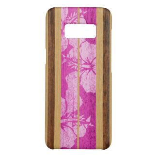 Haleiwa Surfboard Vintage Hawaiian Faux Wood  Pink Case-Mate Samsung Galaxy S8 Case
