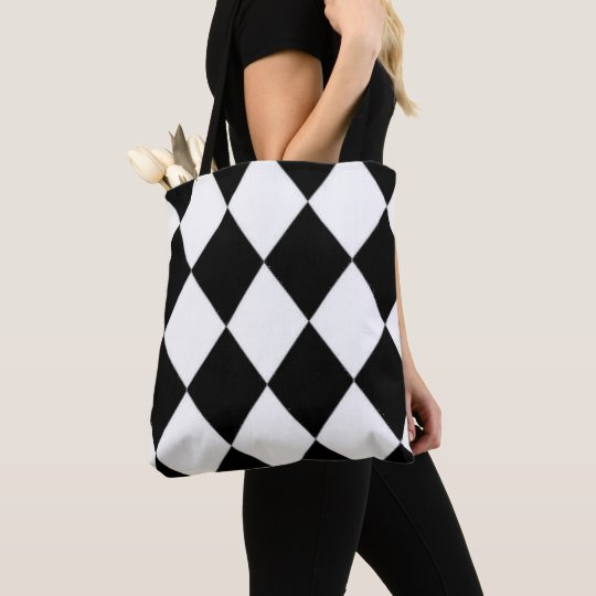 Halequin_Classic_B & W_LG _Multi-Sizes Tote Bag