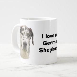 Halequin Great Dane pet photo Giant Coffee Mug