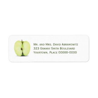 Half a Green Apple Return Address Return Address Label