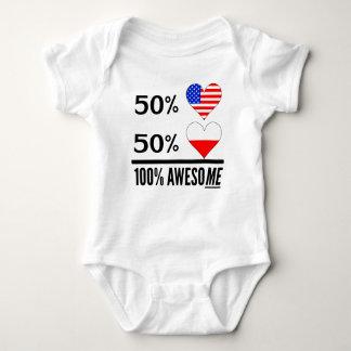 Half American Half Polish Baby Bodysuit