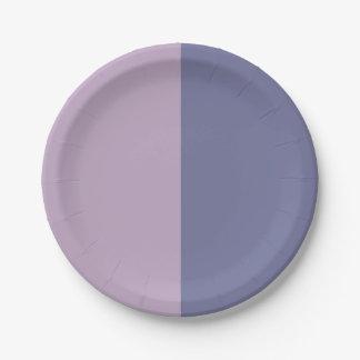 Half amethyst / Half Wild Wisteria Paper Plate