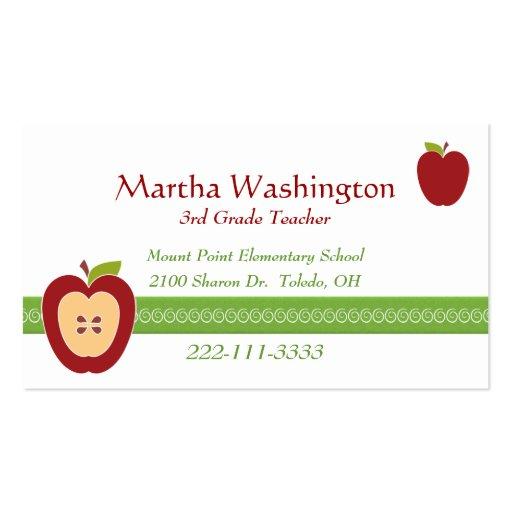 Half Apple Teacher's Business Card