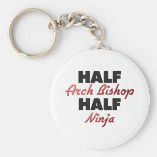 Half Arch Bishop Half Ninja Keychain