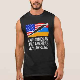 Half Armenian Half American Awesome Sleeveless Shirt