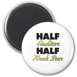 Half Auditor Half Rock Star 2 Inch Round Magnet