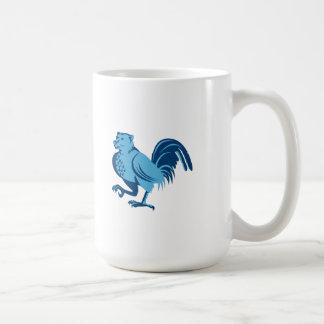 Half Bear Half Chicken Hybrid Marching Retro Coffee Mug