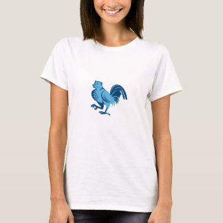 Half Bear Half Chicken Hybrid Marching Retro T-Shirt