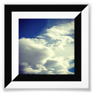 Half Black and White Diagonal Border Photo Print