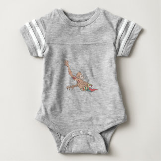 Half Bod Creepy Zombie Dragging Intestines Baby Bodysuit
