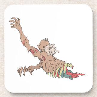 Half Bod Creepy Zombie Dragging Intestines Coaster