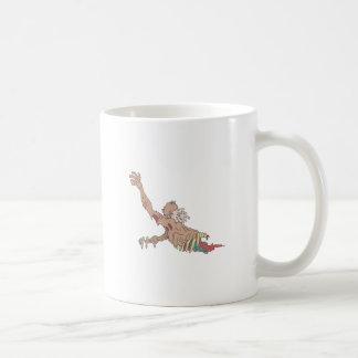 Half Bod Creepy Zombie Dragging Intestines Coffee Mug