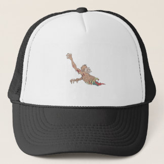 Half Bod Creepy Zombie Dragging Intestines Trucker Hat