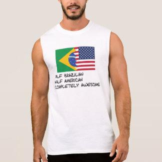 Half Brazilian Completely Awesome Sleeveless Shirt