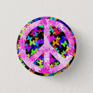 Half-breed Signature Peace 1 Inch Round Button