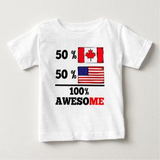 Half Canadian Half American Baby T-Shirt